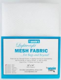 Lightweight Mesh Fabric White Netzstoff weiss