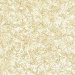 Timeless Treasures Joyful Season Cream Pine metallic