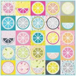 Robert Kaufman Bettys Luncheonette Fruit Juice Quilt Kit Materialpackung