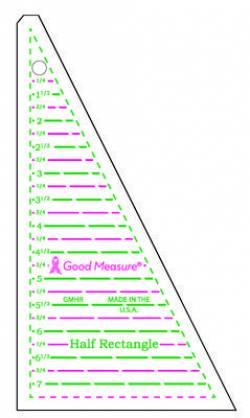 Good Measure Half Rectangle Ruler, Lineal für Rechtecke aus 2 Dreiecken