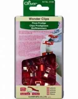 Clover Wonder Clips ROT  50 stk.