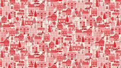 Makower Scandi Christmas Häuser rot