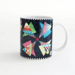 Quilt Happy - Modern Pinwheels Mug Kaffeebecher