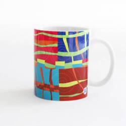 Quilt Happy - Modern Strings Mug Kaffeebecher