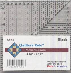 Quilters Rule Lineal, Quadrat 4.5x4.5 inch