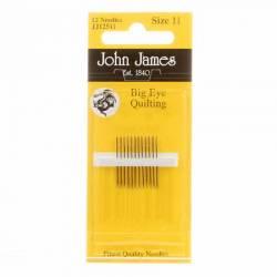 John James Quiltnadeln Big Eye Quilting Betweens No. 11 mit langem Öhr
