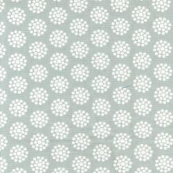 Benartex Grey Dot Flower Tea Towel - Geschirrhandtuchstoff, seitlich gesäumt