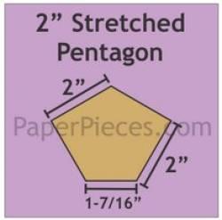 Papierschablonen Pentagon unregelmäßiges Fünfeck 2 inch