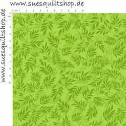 David Textiles Sweden Vineyard Blätter grün auf grün