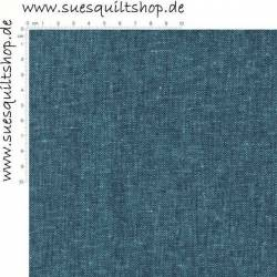 Robert Kaufman Essex Peacock Linen, Leinen-Mischgewebe pfauenblau