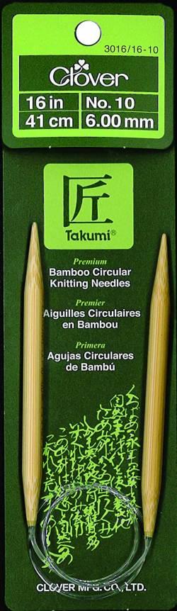 Bambus Rundstricknadel Stärke 6.0 mm, 41 cm lang