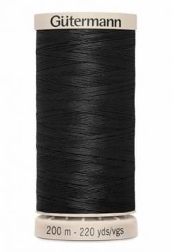 Gütermann Handquiltgarn 100% Baumwolle 200 m Fb. 5201 schwarz
