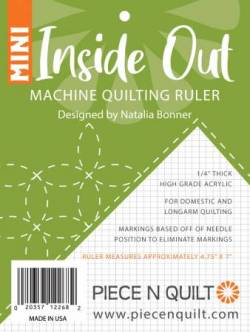 Inside Out MINI Machine Quilting Ruler