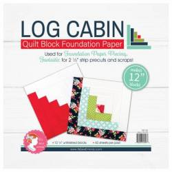 Log Cabin Foundation Paper 12 inch Block
