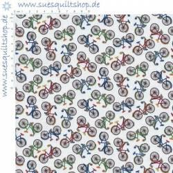 REDUZIERT: Timeless Treasures Mini Bicycles Fahrräder bunt >>> Reststück 0,78 m <<<