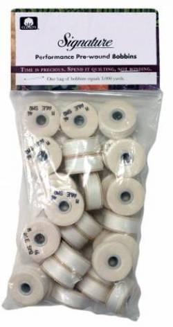 Signature Prewound M Style Bobbin Cotton Quilting Thread 40wt 91yds