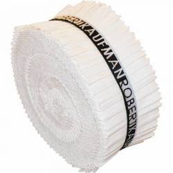 Kona Cotton Roll Up 2-1/2in Strips Roll Up Kona Solids WHITE