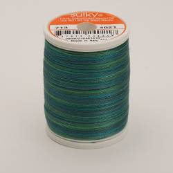 Sulky Cotton 12, 300 m, Fb. 4021 Truly Teal Multicolour