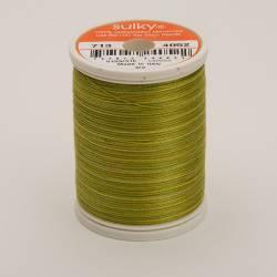 Sulky Cotton 12, 300 m, Fb. 4052 Lime Batik Multicolour