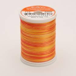 Sulky Cotton 12, 270 m, Fb. 4060 Tangerine Morning Multicolour