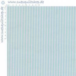 Penny Rose Blue Petite Stripes Streifen aqua weiss