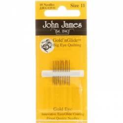 John James Quiltnadeln Gold N Glide BIG EYE No. 11