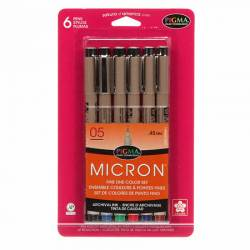 Pigma Micron Country Stifte .05 , 6er Pack