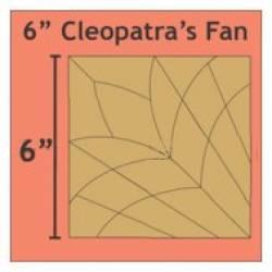 Papierschablonen Cleopatras Fan  6 inch