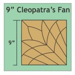 Papierschablonen Cleopatras Fan  9 inch