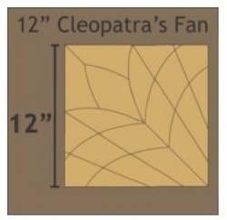 Papierschablonen Cleopatras Fan 12 inch
