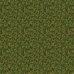 Craft Cotton Traditional Holly Stechpalmenblätter auf grün