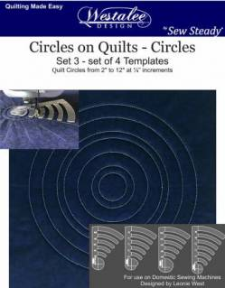 Westalee Circles on Quilts Template Set 4pc Low Shank