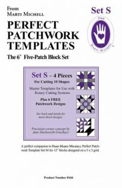 Perfect Patchwork Templates Set S Five Patch 6 inch