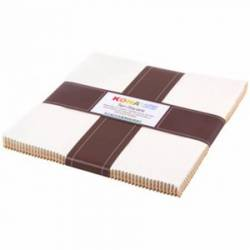 Robert Kaufman 10 inch Squares Not Quite White 42 stk Layer Cake