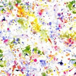 Windham White/Multi Paint Splatter Rückseitenstoff überbreit, Farbspritzer multicolor