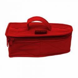 Iron Storage Case Bügeleisentasche für Minibügeleisen rot