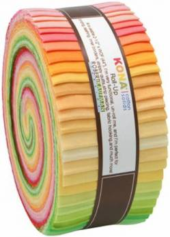 Kona Cotton Roll Up 2-1/2in Strips Roll Up Kona Solids Sunrise Palette