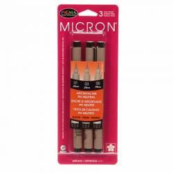 Pigma Micron Stifte 3er Pack SCHWARZ