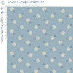 Marcus Fabrics 1800s Pointe Pleasant  Blümchen auf hellblau