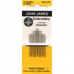 John James Sticknadel spitz, Crewel Embroidery Needles No. 5/10