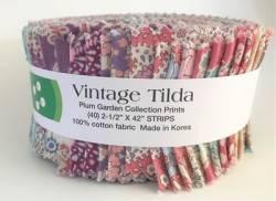 Tilda Fabric Roll Vintage Tilda Plum Garden