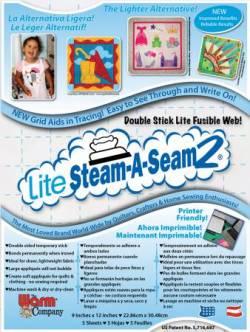 Steam-A-Seam 2 *LITE* ---- 9x12 inch, 5er Pack