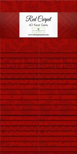Wilmington Essential Gems Red Carpet Jelly Roll 2x20 Streifen