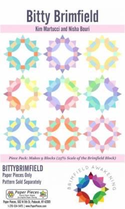Papierschablonen BITTY Brimfield Block Komplettset für 9 Blöcke