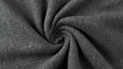 Fleece 100% Baumwolle, 150 cm breit, anthrazit