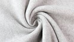 Fleece 100% Baumwolle, 150 cm breit, hellgrau
