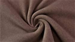 Fleece 100% Baumwolle, 150 cm breit, taupe