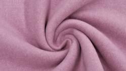 Fleece 100% Baumwolle, 150 cm breit, alt rose