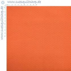 Santee Pin Dots Punkte weiss auf orange