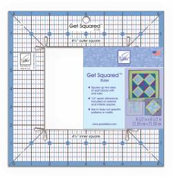 Get Squared Fussy Cut Ruler 8.5 inch aussen, 4.5 inch innen